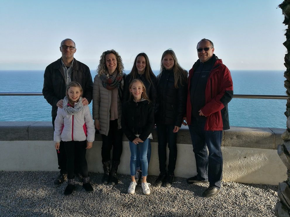 Duna's German partner Claudia Kaube and her father, Mr Kaube, visited Duna Isern and her family.